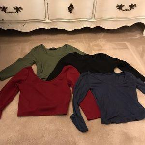Tops - Bundle of Long Sleeve Crop Tops